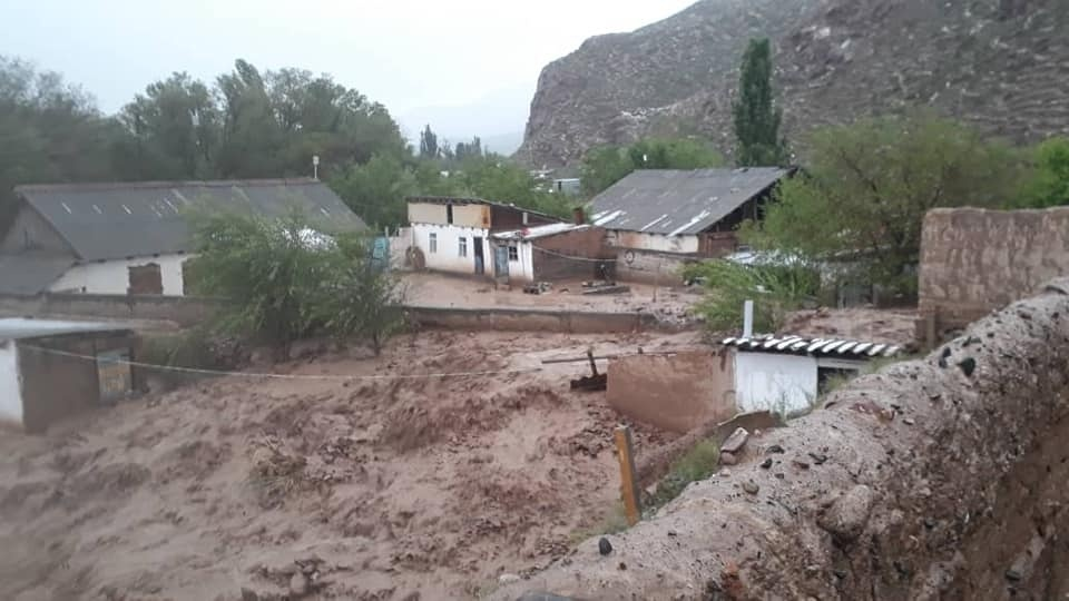 В результате селя в Нарынской области пострадали 60 домов (фото)