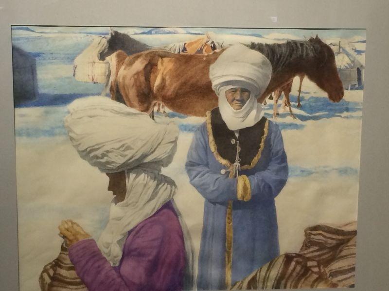 В Новосибирске открылась выставка картин кыргызских художников