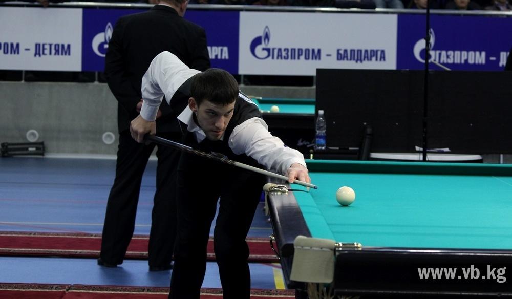 Бильярдист Каныбек Сагынбаев вышел в 1/4 финала чемпионата мира в Бишкеке