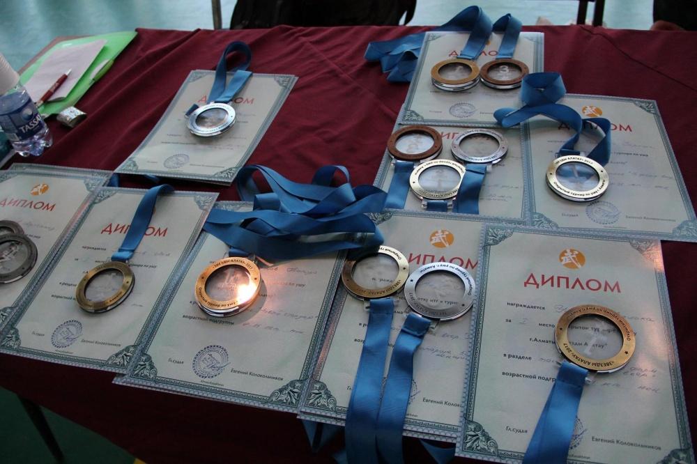 Ушуисты Кыргызстана завоевали 20 медалей на турнире в Казахстане