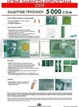 Кыргызские сомы считаются одними из самых защищенных банкнот в мире