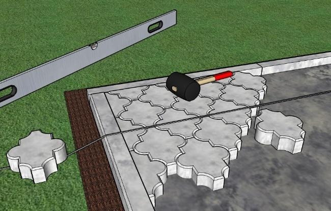 Как положить тротуарную плитку своими руками на песок